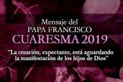 Mensaje del Papa Francisco por Cuaresma